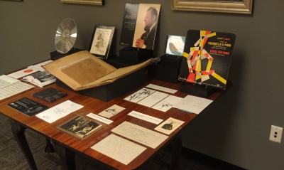 A pop up exhibit on our cello music collection