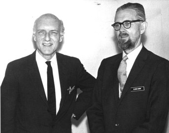 Heinz von Foerster (left) and W. Ross Ashby (right), found in record series 39/1/11, box 3. The W. Ross Ashby Papers are held by the British Library, http://searcharchives.bl.uk/primo_library/libweb/action/dlDisplay.do?docId=IAMS032-003099590&vid=IAMS_VU2.