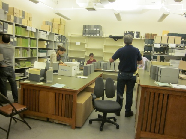 Processing room during our Archives Blitz grant project
