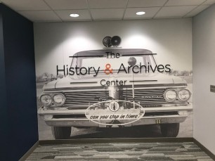 Nationwide History & Archives Center Museum entry wall (courtesy Nationwide History & Archives Center).