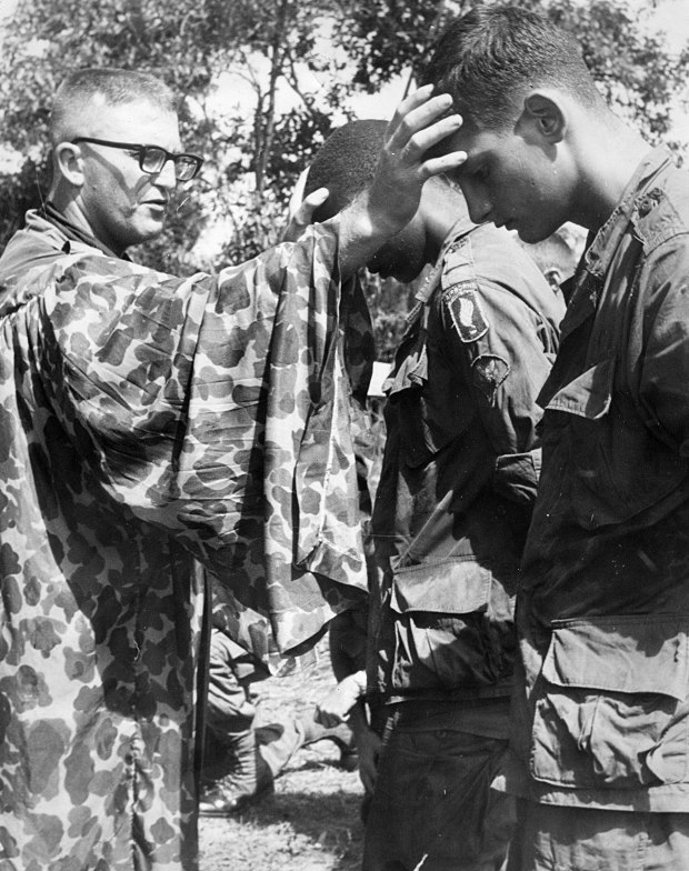 ALC Chaplain Conrad Walker - Communion Service in Viet Nam, 1967