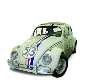 "Herbie, the ""Love Bug"" from the 1977 Disney film Herbie Goes to Monte Carlo. Courtesy of Walt Disney Archives Photo Library."